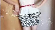 Diy_ Leopard peplum stretchy Skirt