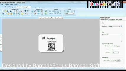 Create and print Qr barcode label