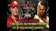 Seth Rollins vs John Cena ( Tables Match ) - Wwe Tlc 2014