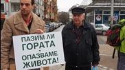 Протест против изсичането на горите край Аспарухово