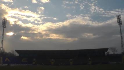 Сектор А на стадион Георги Аспарухов остана без седалки