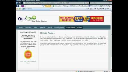 Joomla19 - Pointing Your Domain (уроци)