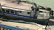 Извадиха туристическото корабче, потънало в Дунав в Будапеща