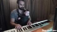 Ето как се приспива бебе с пиано