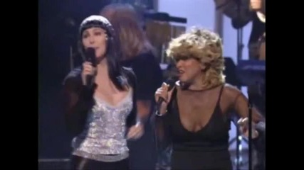Cher, Tina Turner, Sir Elton John - Proud Mary - Hq