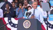 USA: Protesters wearing 'Bill Clinton's a Rapist' t-shirts crash Obama's speech