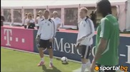 Шумахер и Розберг дадоха кураж на бундестима преди мача с Гърция