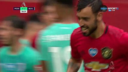 Зрелищен гол направи резултата 5:2 за Юнайтед срещу Борнемут
