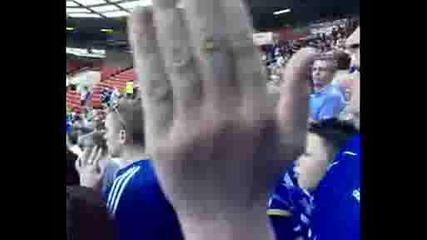 Феновете на Челси на Олд Трафорд