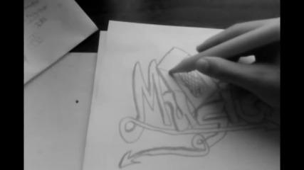 Бързо рисуване на графит- Music