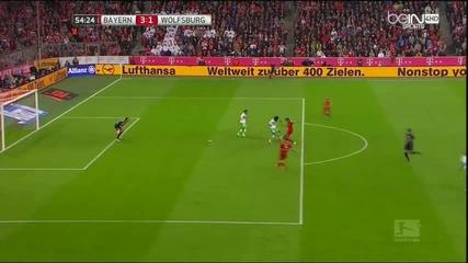 Левандовски избухна с 5 гола за 9 минути Байерн 5 - 1 Волфсбург 22.09.2015