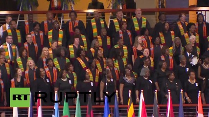USA: Michelle and Barack Obama attend Charleston church shooting ceremony
