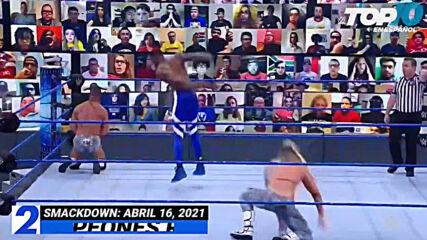 Top 10 Mejores Momentos de SMACKDOWN: WWE Top 10, Abr 16, 2021