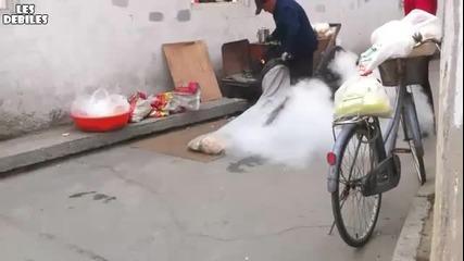 Как се правят пуканки в Китай