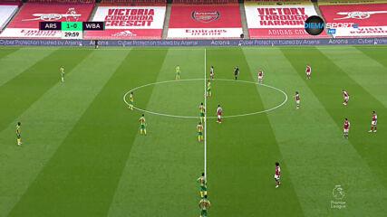 Арсенал - Уест Бромич Албиън 2:0 /първо полувреме/