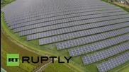 Япония: Дрон разкрива необятността на Слънчевата електроцентрала в Айкава