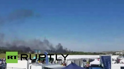 UK: Hawker hunter fighter crashes at Shoreham airshow, multiple injuries