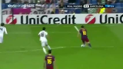Голът на годината в Шампионската Лига през 2011 - Меси срещу Реал Мадрид - Реал Барса 0-2