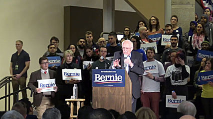 USA: Bernie Sanders holds campaign rally in Des Moines, Iowa
