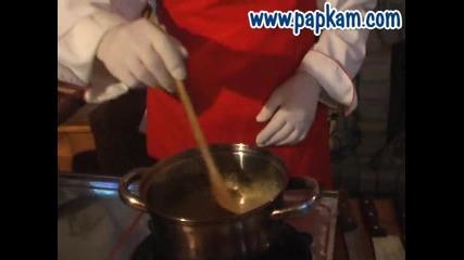 Качамак с млечни продукти