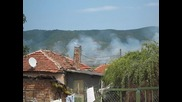 пожар в горишкия балкан заснето от Гълъбец