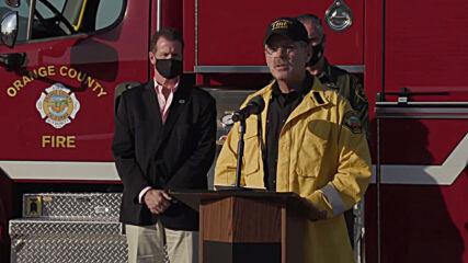 USA: Bond fire chars more than 7,200 acres in Silverado Canyon