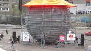 Руски каскадьори опровергаха закона за земното притегляне - Антигравитация 2014 в Мурманск