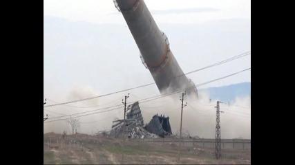 Взрив на 155 метров комин в Хасково