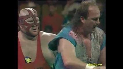 "Vader w/ Jim Cornette vs. Jake "" The Snake "" Roberts - Wwf King Of The Ring 1996"