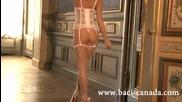 Baci Lingerie - Bc400 White Mesh Stockings - www.baci-canada.com