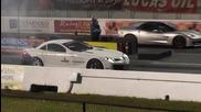 Mercedes Mclaren Slr vs Corvette Z06 - равностойна класа !