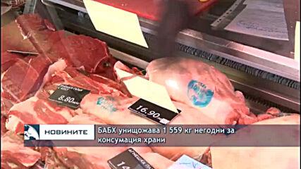 БАБХ унищожава 1 559 кг негодни за консумация храни