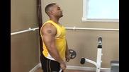 Бодибилдинг упражнения - Придърпване към брадата за рамо Vbox7