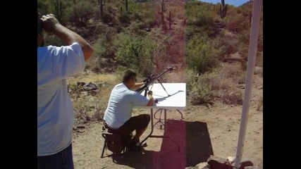 Стрелба в пустинята с 50 калиброва Пушка Финикс - Аризона