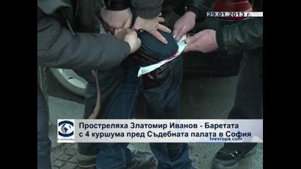 В обектива: Стрелба срещу Златомир Иванов-Баретата