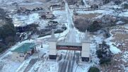 Brazil: Drone footage shows unexpected snowfall in southern town amid cold snap