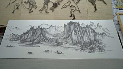 NAILardo da Vinci! Chinese artist uses thousands of nails to draw stunning portraits