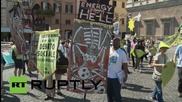 Italy/Vatican City: Thousands gather in support of Pope Francis' climate change encyclical