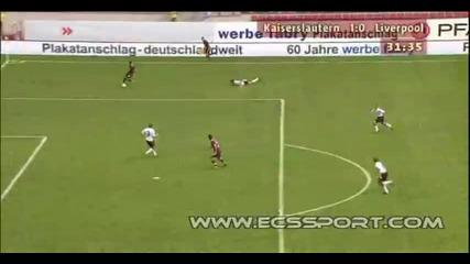 24.07 Кайзерслаутерн - Ливърпул 1:0 Илиян Мицански супер гол