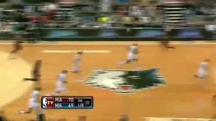 Miami Heat @ Minnesota Timberwolves 103 - 101 [30.12.2011]