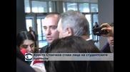 Стоичков няма да влиза в политиката, но подкрепя студентите