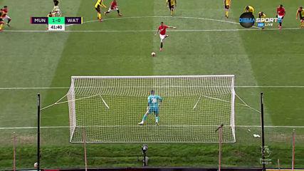 Манчестър Юнайтед повежда срещу Уотфорд с гол на Бруно Фернандеш