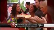 Carmen Villalobos le celebran sorpresa de cumpleanos