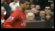 Скандални кадри - Роналдо бесен на Сър Алекс,  че е сменен Man Un 2 - 0 Man City