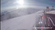 Младеж прави дрифт с F1 болид на скиорска писта!