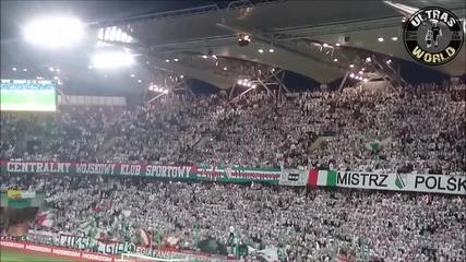 Legia Warszawa vs Wisla Krakov 15.03.2015 || Хореография.