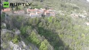 Drone's Eye View of Balestrino, Italy's Haunted Ghost Town