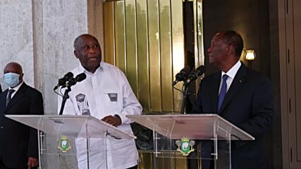 Ivory Coast: President Ouattara meets with his rival and predecessor Gbagbo