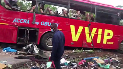 Ghana: At least 60 killed after two buses collide in Ampoma