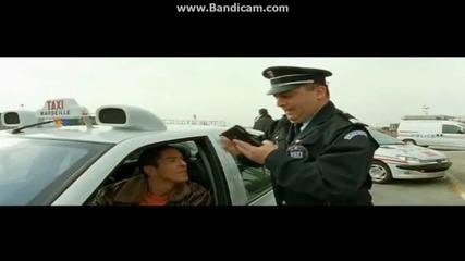Така се паркира пред полицията Смях..! ( Такси 3 бг аудио )